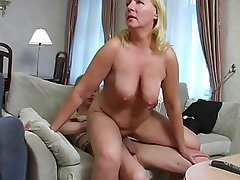 BBW, Grosse Boobs, Blondine, Reifen