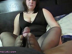 Blowjob, Foot Fetish, Pantyhose, Stockings