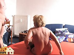 Blonde, Blowjob, Cumshot, German