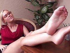 Handarbeit, Angespritzt, Fuß Fetisch