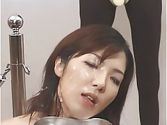 Japanese, Bukkake, Cum in mouth
