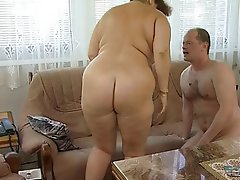 BBW, Grosse Boobs, Blowjob, Oma