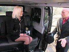 Czech, Blonde, Car, Bus