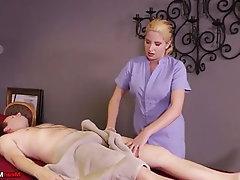 Handjob, Femdom, Massage