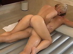 Blondine, Blowjob, Ficken, Hardcore