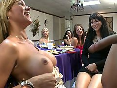 Blowjob, CFNM, Party, Public