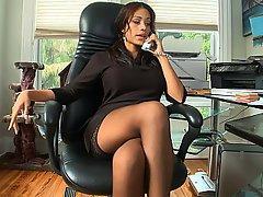 Ofis, Çorapları, Esmerler, Sevimli