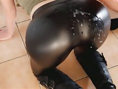 Cumshot, Handjob, Latex