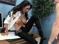 Brunette, Big Tits, Office, Hardcore