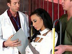 Arzt, Blowjob, Brünette