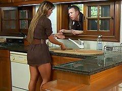 Cazzo, Duro porno, MILF, Sesso in cucina