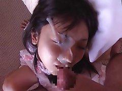 Amateur, Angespritzt, Gesichtsbehaarung, Japanisch