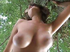 Big Boobs, Brunette, Outdoor