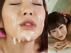 Bukkake, Cumshot, Facial, Japanese