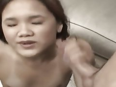 Asian, Cumshot, Facial, Handjob