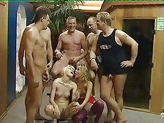 Blowjob, Cumshot, Gangbang, German