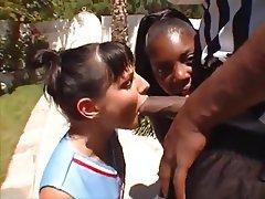 Cheerleader, Interracial, Threesome