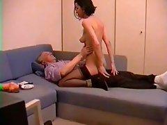German, Handjob, MILF, Stockings