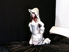 Amateur, Cosplay, Masturbation, Stockings
