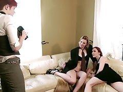 Babe, Lesbian, Strapon, Threesome