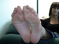 Amateur, Brunette, Foot Fetish, Softcore
