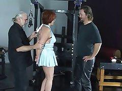 BDSM, Flotter Dreier, Reifen, Rothaarige