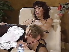 Double Penetration, French, Group Sex, Stockings