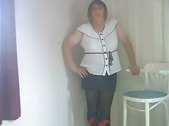 Mature, Pantyhose, Secretary, Stockings