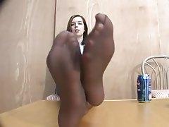 Amateur, Foot Fetish, Stockings
