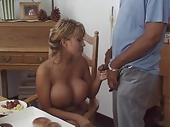 Lingerie, Handjob, Blonde, Big Boobs